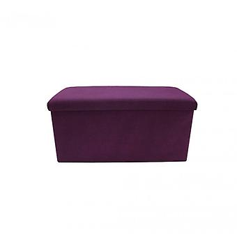 Muebles Rebecca Puff Banco Taburete Acolchado Púrpura Algodón Espacio Salvaspace 38x76x38