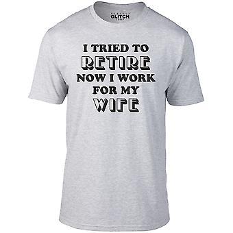 Uomini's ho cercato di ritirare t-shirt