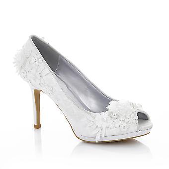 Ruby Shoo Women's Bianca Pearl Detail Peeptoe Shoes