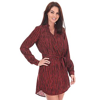 Womens Vero Moda Sine Shirt Dress In Madder Brown