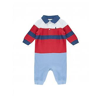 Polo Ralph Lauren Kinderbekleidung gestreiftes Logo Babygrow