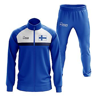 Finland Concept Football Tracksuit (Royal)