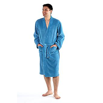 Mens Harvey James velour fleece Dressing Gown 9762 Mens Harvey James velur rochie de îmbrăcat