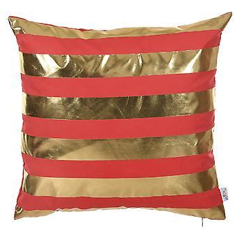 """18 """"x 18"""" kulta onnellinen neliö raidat painettu koriste heittää tyynyn päällinen tyyny liina"""