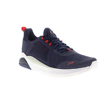 Puma Anzarun  Mens Blue Mesh Lace Up Low Top Sneakers Shoes