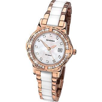 Sekonda Ladies Rose Gold Plated Quartz Watch 2022.00