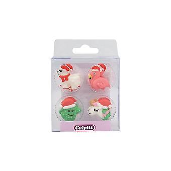 Culpitt Sugar Piping - Unicorno di Natale, Fenicottero, Lama e Cactus - RP - 12 Pezzi - Singolo