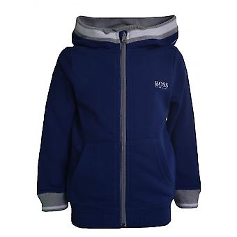 Hugo Boss Boys Hugo Boss Kids Blue Hooded Sweatshirt