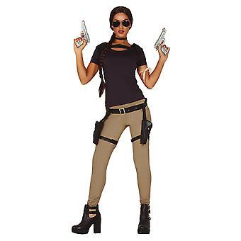 Femme aventurier Lara Fancy Dress Costume