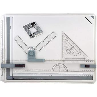 A3 Drawing Board Set Multi-Function Magnetic Clamping Bar Square Graphic Technical Drawing Board Architecte 51x37cm