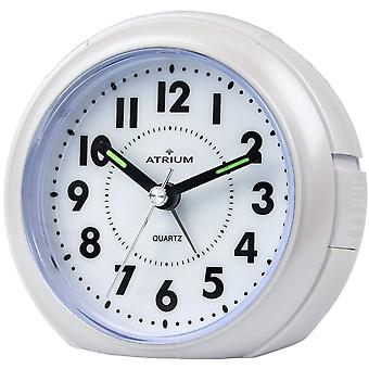 ATRIUM Alarm Clock Analog Quartz White A240-0 without ticking with light large numbers