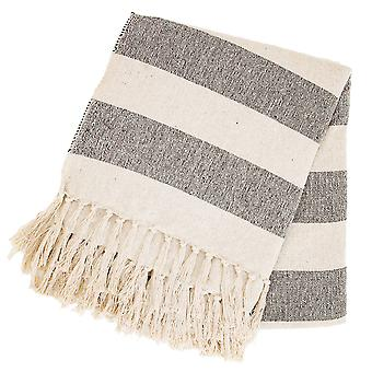 Sass & Belle Scandi Boho Stripe Blanket Throw