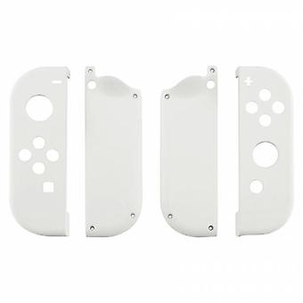 Housing shell for nintendo switch joy-con controller hard casing replacement soft touch - white | zedlabz