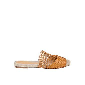 Paloma Barceló Maribel Women's Orange Leather Sandals
