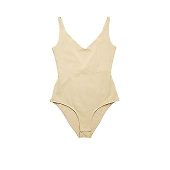 Acne Studios Al0133aek Women's Beige Cotton Bodysuit