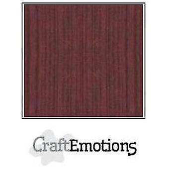 CraftEmotions linen cardboard 100 Sh mahogany brown Bulk LC-78 30,5x30,5cm 250gr