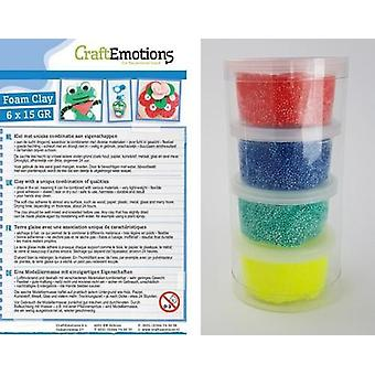 CraftEmotions Foamball clay - Primary set 4 x 23gr Air dry