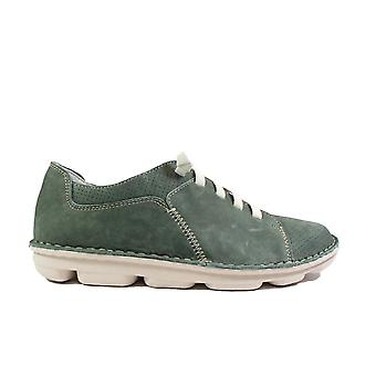 On Foot Basket Sport 7020 Green Nubuck Leather Mens Slip On Shoes