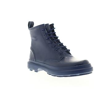 Camper Turtle  Womens Blue Leather Lace Up Casual Dress Boots
