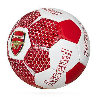 Arsenal FC Vector Official Supporter Football Soccer Ball Red/White - Size 5