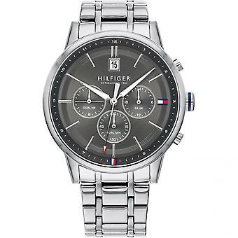 تومي هيلفيغر 1791632 Mens Silver سوار Wristwatch