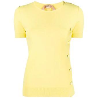 N°21 20en2s0a01575703316 Women's Yellow Cotton T-shirt