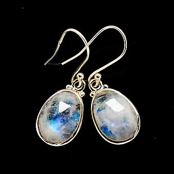 Rainbow Moonstone Earrings 1 3/8