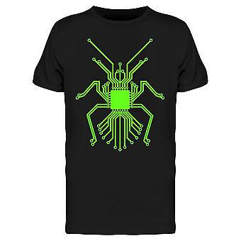 Green Bug Circuit Board Tee Men's -Kuva Shutterstock