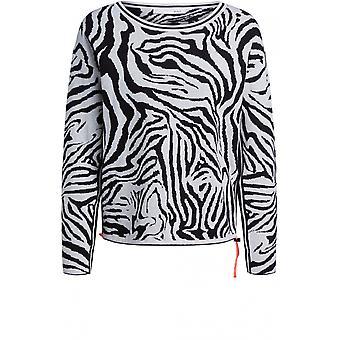Oui Zebra Print Jumper