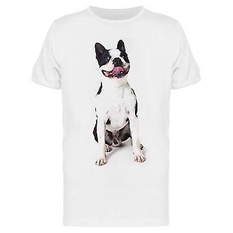 Boston Terrier ist lächelnd Tee Men's -Bild von Shutterstock