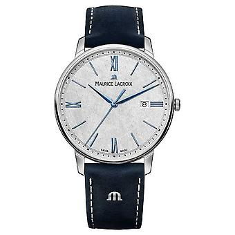 Collection Maurice Lacroix Eliros | Bracelet en cuir EL1118-SS001-114-1 Montre