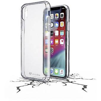Cellularline Clear Duo Back cover Apple iPhone XS Max Transparant