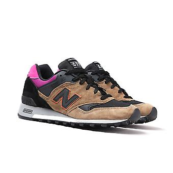 New Balance Made In England M577 Black, Burnt Orange & Purple Trainers