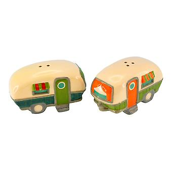 Beachcombers Camping Trip Weekend Getaway Campers RV Salt and Pepper Shaker Set