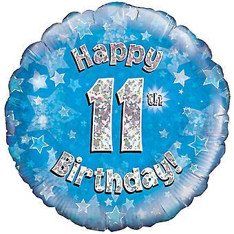 عيد ميلاد 18 بوصة 11th سعيد Oaktree الأزرق بالون المجسم