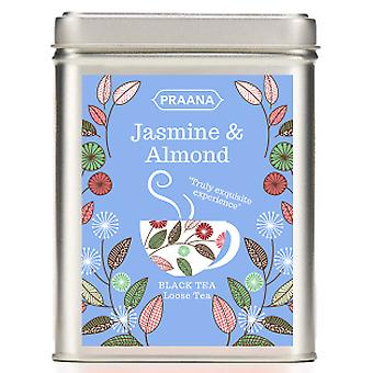 Praana Tea -black Tea With Jasmine Buds And Almond - Gift Tin