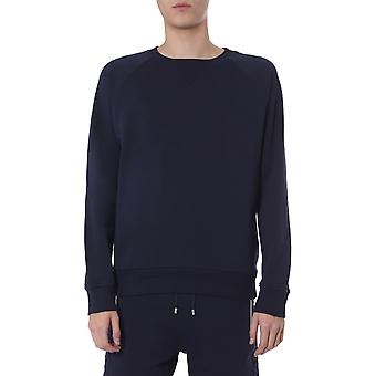Balmain Th13124i2406ub Män's Blue Cotton Sweatshirt