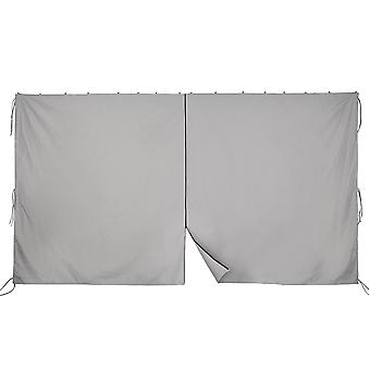 Yescom 10x6.5' Universal Replacement Privacy Side Wall Canopy Curtain for 10x10ft Yard Garden Gazebo Tent(Pack of 1)