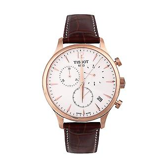 Tissot T063.617.36.037.00 Tradition Classic Rose Gold-Plated Men's Watch