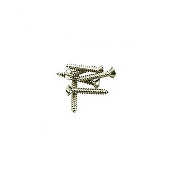 WD Music Strap Button Screw Chrome Vintage Slot Head (bag Of 6)