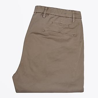 Briglia  - Washed-Effect Elasticated Chinos - Olive