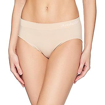 Merk - Arabella Women's Seamless Hi Cut Brief Panty, 3 Pack, Sunbeige,...