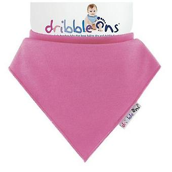 Fuchsia dribble ons bib by sock ons