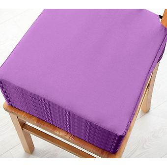 Purple 6pk Seat Pad Cushions with Secure Fastening Dining Kitchen Chairs Soft Cotton Twill