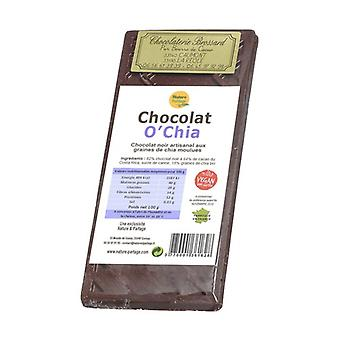 O'Chia dark chocolate: 18% organic chia seeds 100 g