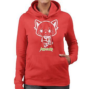 Aggretsuko Retsuko Office Kleding Overzicht Women's Hooded Sweatshirt