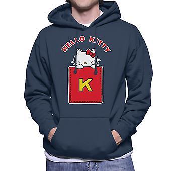 Hello Kitty Yellow K Men's Sweatshirt med hætte