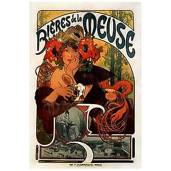 Print on canvas - Beer Della Mosa - Alphonse Mucha - Painting on Canvas, Wall Decoration