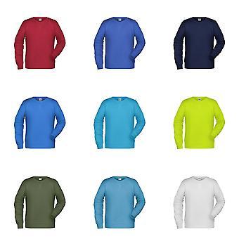 James and Nicholson Mens Raglan Long Sleeved Sweatshirt