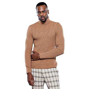 Turtuleneck light brown knitwear | wessi